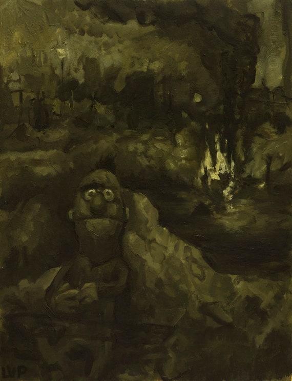 Melanophila, Oil Painting
