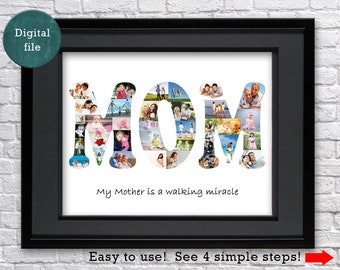 Mothers day gift Photo collage Mother in law  gift for mom gift for Mother of the groom gift Personalized gift for mom Custom gifts for mom