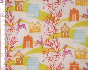 """Fabric 1 Yard  LITTLE FOLKS VOILE Forest Hills Sweet Gold 54/55"""" Wide  Anna Maria Horner Floral Waves Quilting Sewing"""