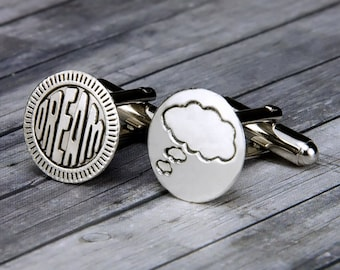 Dream - Comic Cuff Links - Comic Cufflinks - Comic Jewelry - Mens Accessories - Christmas - gifts for him - Teacher Gift - Mens Gifts - Mens