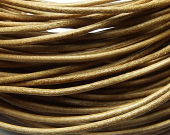 40 meters natural colored leather cord 1.5 mm PR0500