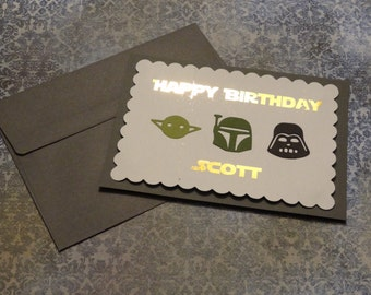 Custom Jedi Name Star Wars Birthday Greeting Card