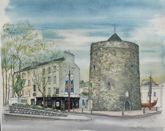 Reginald's Tower - Waterford, Ireland, Original Painting by Roisin O'Shea
