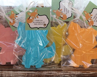 Large Fox Soap Party Favors:  Birthday favors, Fox Favors, Woodland Creatures, Baby Shower Favors, Baby Sprinkle, Wedding Favors