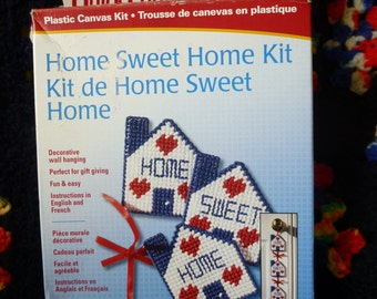 "Plastic Canvas Wall Hanging Craft Kit: ""Home Sweet Home"" **"