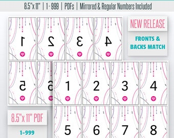 Bead themed Live Number Cards(1-999) Normal + Mirrored Numbers Included | Facebook Live Sale Numbers