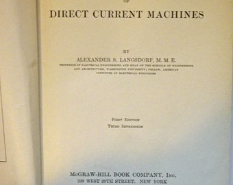 Principles of Direct-Current Machines by Alexander S Langsdorf, 1st Edition