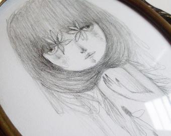 Cecilia - original drawing on paper