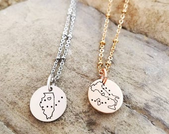 Friendship Pendant Necklace Best friend necklace etsy best friend necklaces long distance friendship jewelry best friend gift states necklaces audiocablefo