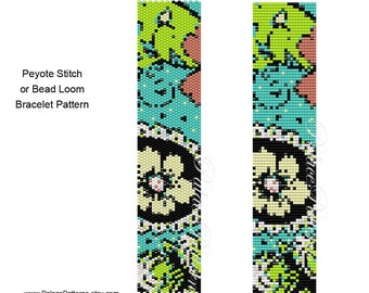 PATTERN for Peyote Stitch or Bead Loom Bracelet - Bead Loom Pattern and Peyote Pattern - Bead Weaving Pattern PP433