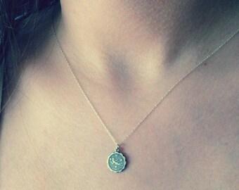 Virgo Necklace, Virgo Jewelry, Zodiac Jewellery, Zodiac Jewelry, Virgo Zodiac, Virgo Pendant, Virgo Sign,  September Birthday, Zdiac Sign