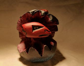 Dragon Hatchling © - Hand Carved Wooden Sculpture