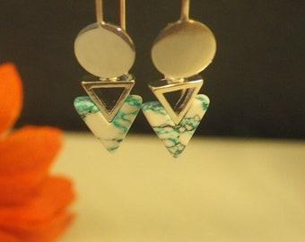 Mint Dot Earrings