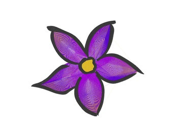 Violet Watercolor Flower - Embroidery Design - 4x4, 5x6, 7x8, 9x10, 11x12