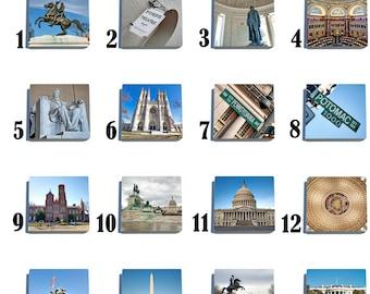 Washington D.C. Stone Coaster Set - Pick any 4 images - 16 to choose from