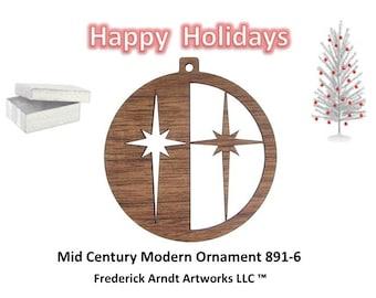 891-6 Mid Century Modern Christmas Ornament