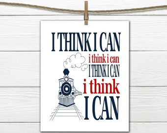 Train Decor- Train Personalized Print- I think I can - I think I can Train Nursery Decor