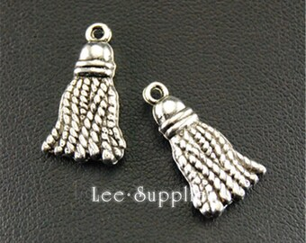 10pcs Antique Silver Tassel Charms  A1308