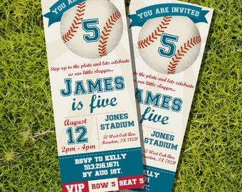 Baseball Ticket Invitation - Baseball Ticket Birthday Invitation - Baseball Party Invite - Instant Download - Edit with Adobe Reader