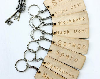Man Cave Keyring, Keychain, Wooden Keyring, Shed Keyring, Humorous Gift, Gift for Grandpa, Gift for Dad, Gift for Him, New Home Gift