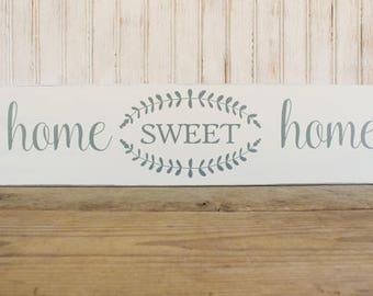 Home Sweet Home Sign Rustic Handcrafted Housewarming or Wedding Gift Signs with Sayings Family Wall Sign