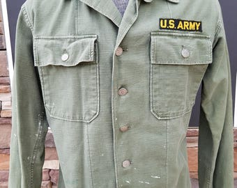 Vintage WWII Army Button Up