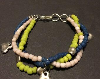 Threes strand bracelet