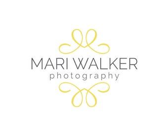 Photography logo  - Watermark logo design - Logo template - digital download psd file