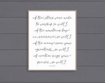 So Will I Art Print (Vertical) • Printable • Digital Download