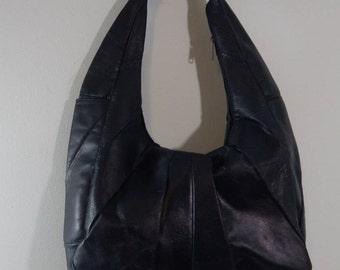 VINTAGE LEATHER SHOULDER Strap Handbag