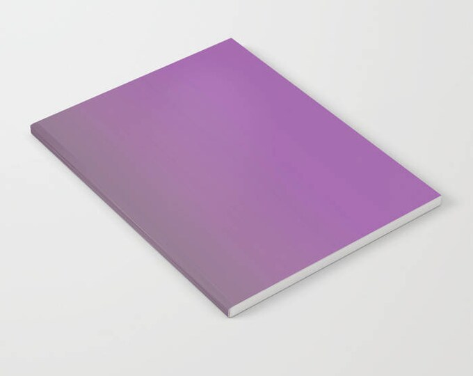 Purple Notebook - Purple to Gray Ombre - Blank Book - Lined - Unlined - Made to Order