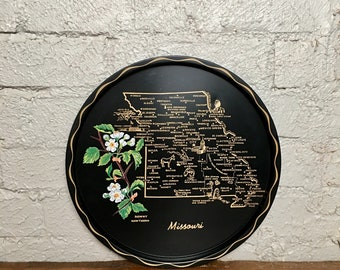 Vintage Missouri Souvenir Serving Tray