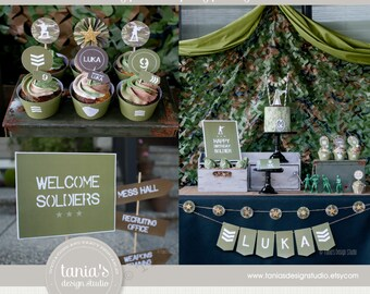 Army Printable Birthday Party Package by tania's design studio