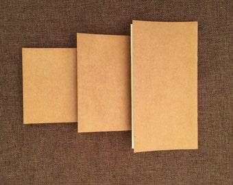 Blank journal  Kraft notebook  favors sketchbook