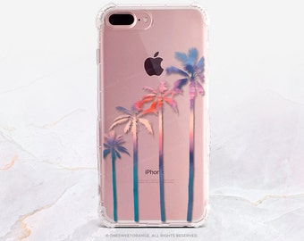 iPhone 8 Case iPhone X Case iPhone 7 Case Palm Trees Clear GRIP Rubber Case iPhone 7 Plus Clear Case iPhone SE Case Samsung S8 Plus Case U18