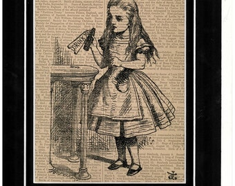 222 Alice In Wonderland vintage dictionary art