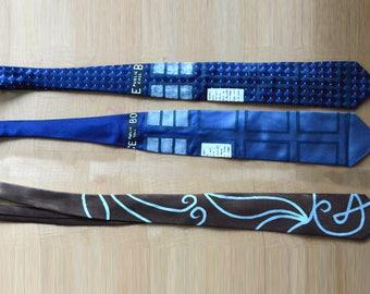 Hand Painted Police Box, Regeneration Fanart Neckties