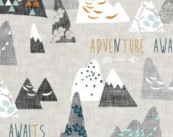 Adventure Awaits Mountains Crib Sheet - 3 background options