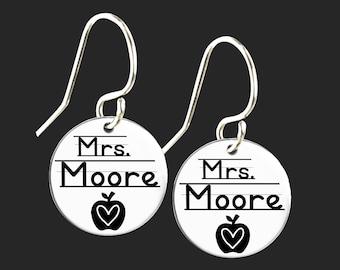 Personalized Teacher Earrings | Teacher Gift | Gift for Teacher | Korena Loves