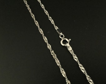 Silver Singapore Chain // 925 Sterling Silver // 1.8mm Gage // Medium Gage Pendant Chain