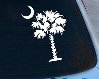 Palmetto Tree Decal - South Carolina Sticker - SC - Carolina Tree - Palmetto - Charleston - Laptop - Macbook - Car Decal