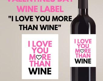 FUNNY VALENTINES DAY wine label- Funny wine label- funny valentines day gift for him, Valentines day decor- Valentines day wine