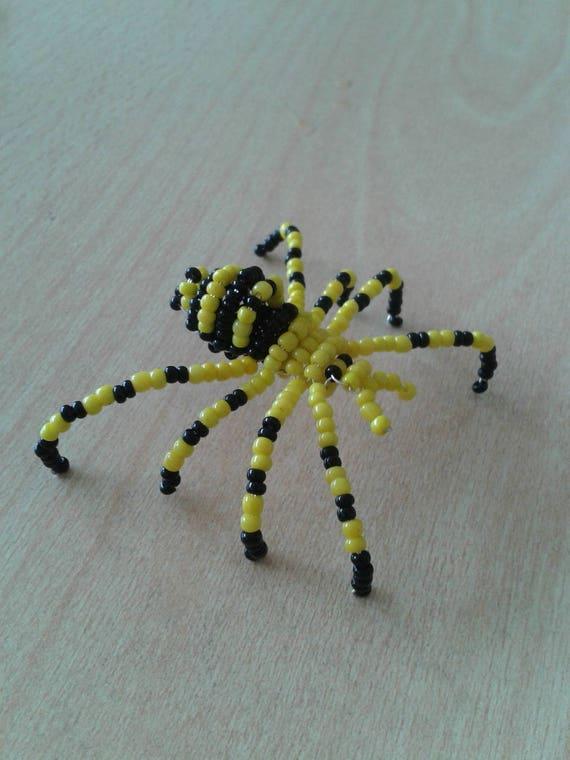 Halloween accessoire d coration araign e jaune et noire en for Accessoire deco jaune