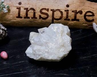 Angel Aura Crystal Quartz Cluster - Titanium Coated Crystal Quartz Point Cluster  (GS-51)