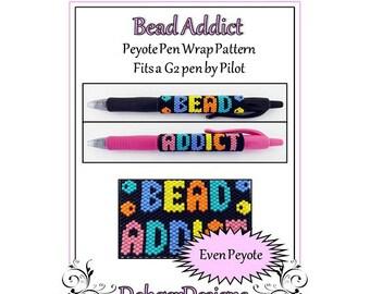 Bead Pattern Peyote(Pen Wrap/Cover)-Bead Addict