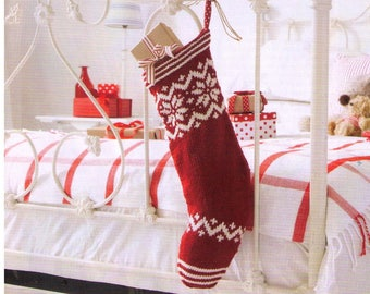 PDF Christmas Stocking Knitting Pattern