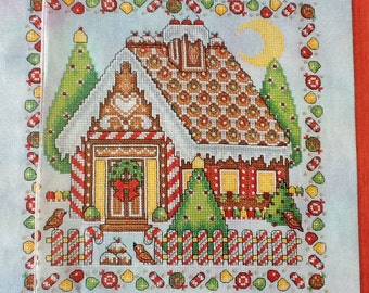 G- GINGERBREAD HOUSE - cross stitch pattern only