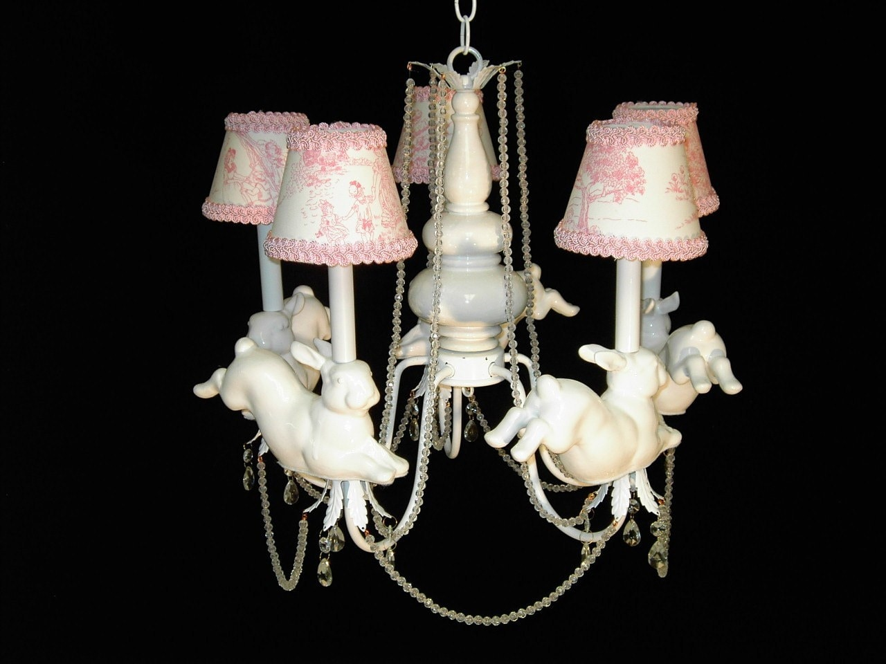 Nursery chandelier leaping bunny rabbits childrens zoom arubaitofo Choice Image