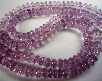 Pink Amethyst Faceted Machine Cut Roundel Beads Size 8 To 8.75  mm String Lenth Is 14'' inch Total 1 String .AP33