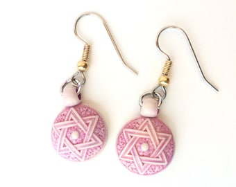 Star of David loop earrings